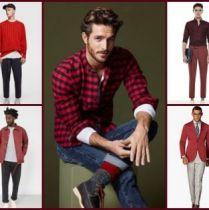 Gợi ý phối trang phục màu đỏ cho các chàng trai