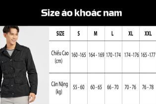 Tư vấn chọn áo khoác nam theo bảng size chuẩn