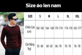 Tư vấn chọn áo len nam theo bảng size chuẩn