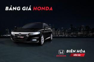 Bảng giá xe Honda ôtô mới nhất tại đại lý Oto Honda Biên Hòa - Đồng nai