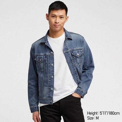 Top shop bán áo khoác denim cho nam chất trên đường Quang Trung