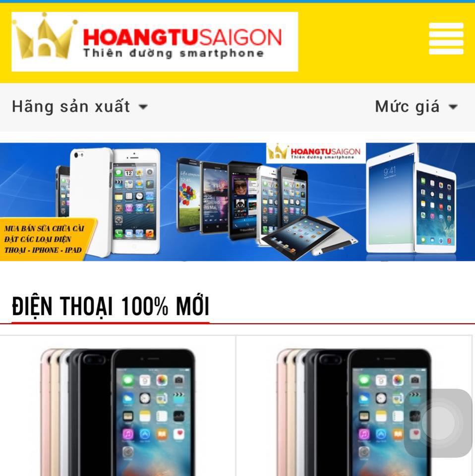 Cửa hàng điện thoại di động Hoàng Tử Sài Gòn